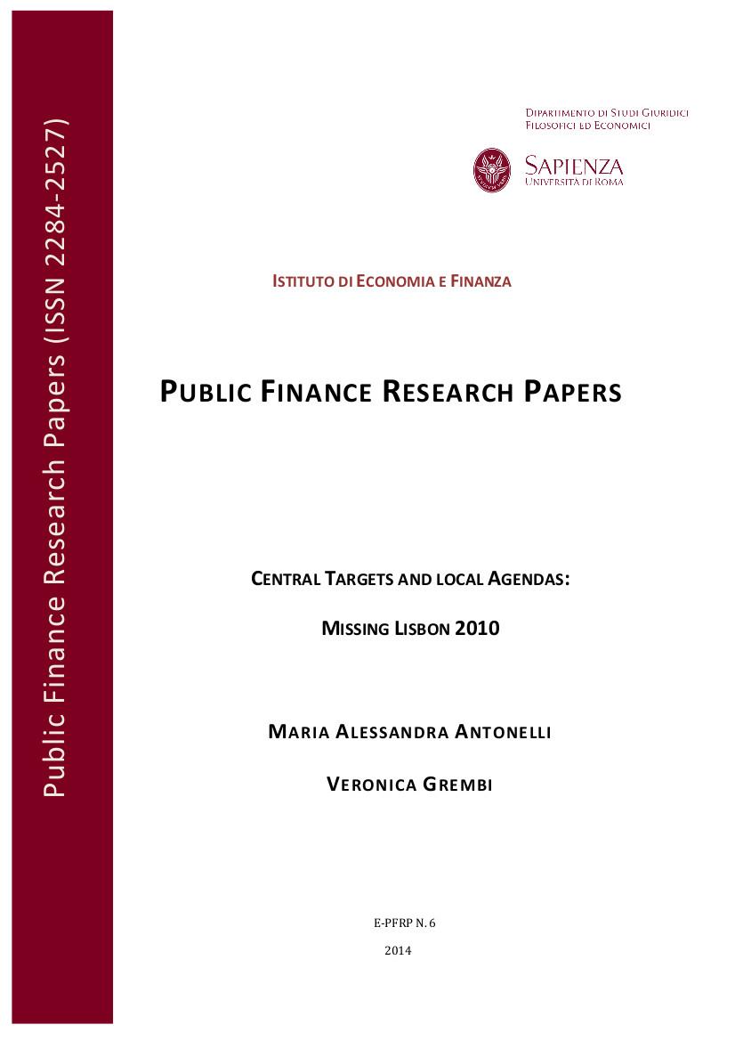 Public Finance Essays (Examples)